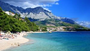 Homokos tengerpart Horvátországban