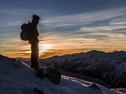 Túrázás magas hegyen
