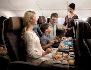 Repülő étkezés